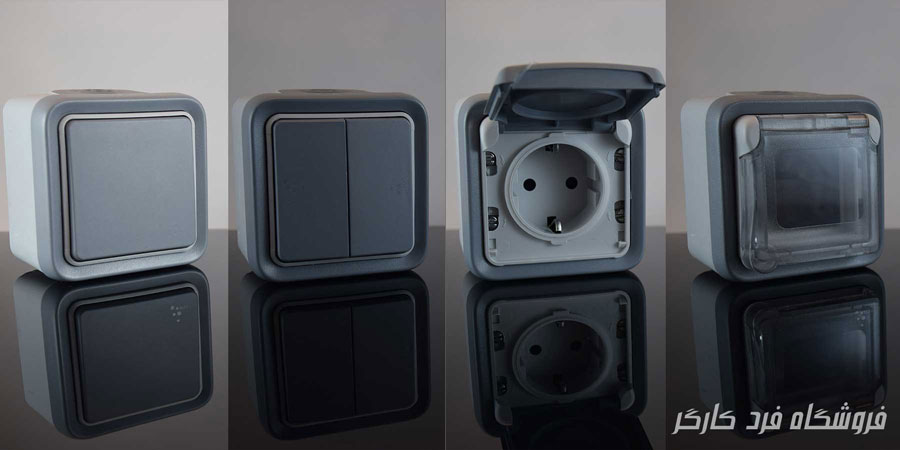 Waterproof switch and socket